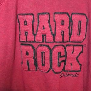 Hard Rock Cafe Pullover Raised Letters Sweat Shirt